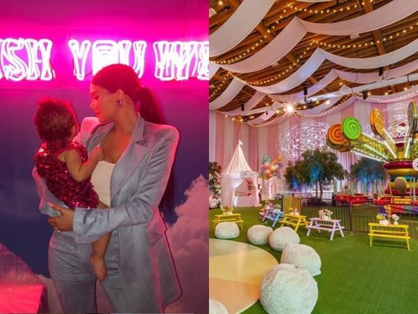 凯莉·詹娜为女儿庆生 搭豪华游乐园