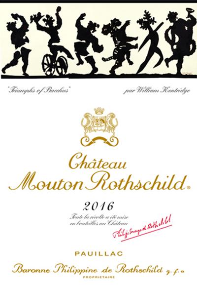 木桐酒庄正式公布2016年份正牌酒酒标