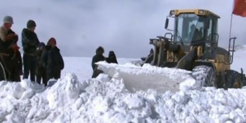 玉树发生雪灾 四百多户牧民被困(多图)