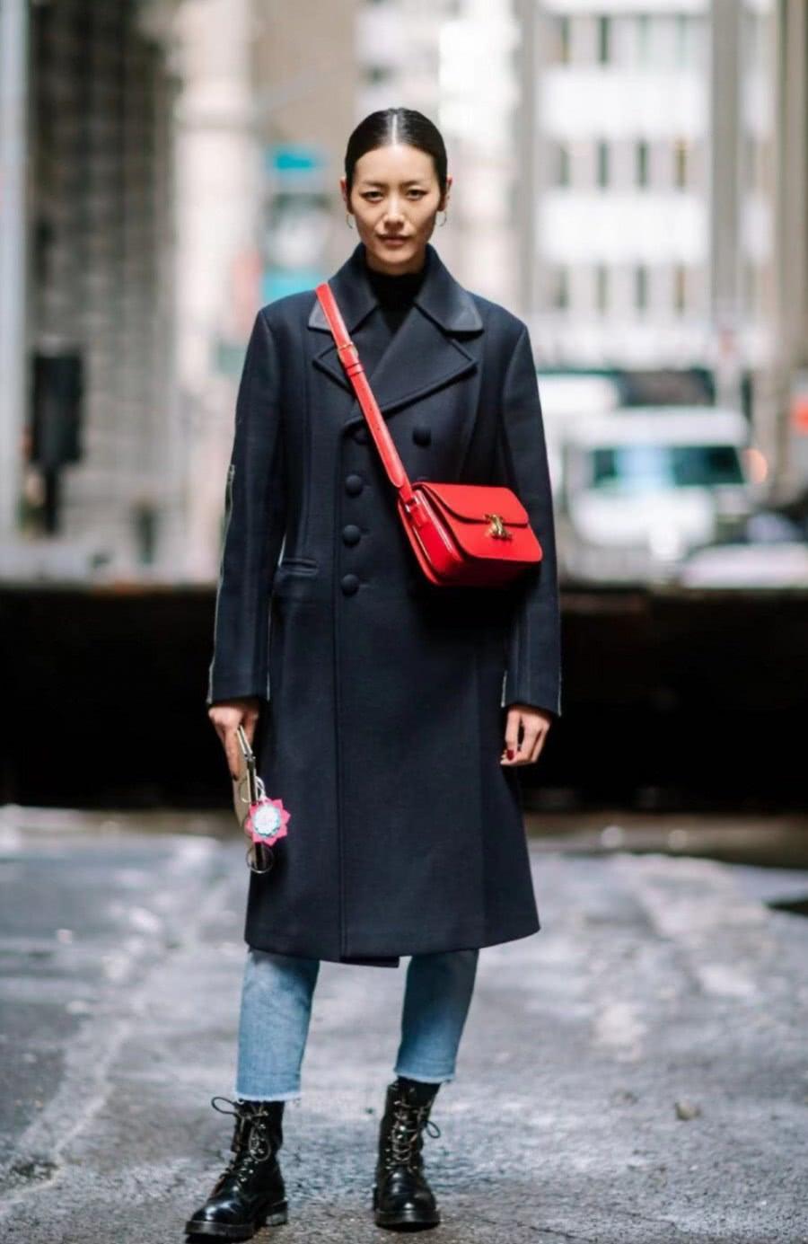 纽约时装周街拍:瘦才是主体