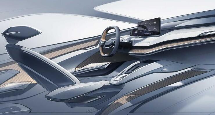 斯柯达VISION iV内饰设计图曝光 充满未来科技感