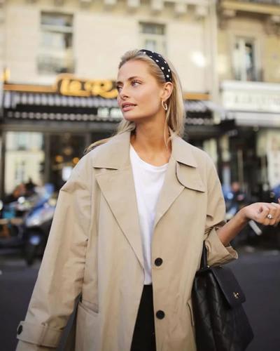 2019春天服装流行趋势 简单风衣也可穿出大气场