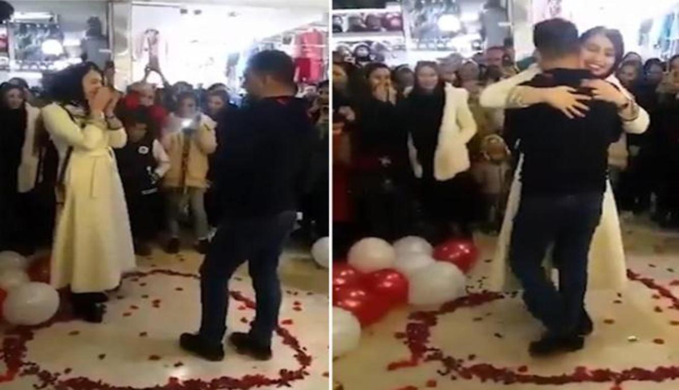 情侣当众求婚被捕 因行为冒犯了伊斯兰教义