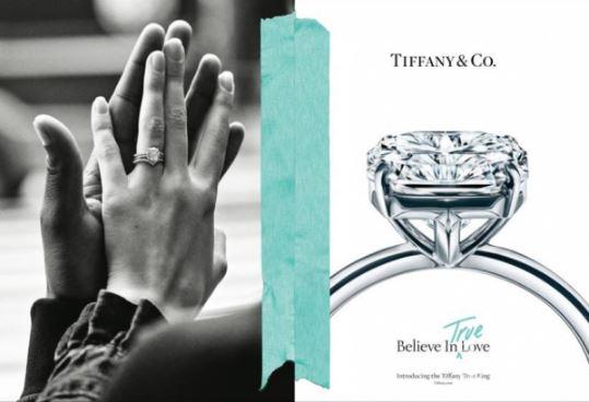 """蒂芙尼全新""""相信爱""""系列广告大片 Tiffany True订婚钻戒致敬真爱"""