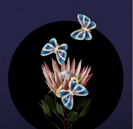 感受蝴蝶的生命魅力 MONETA第四代La Mode系列珠宝