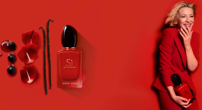 全新阿玛尼红色挚爱香水 选择布兰切特的人生态度