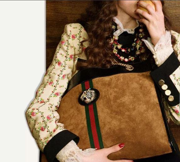 Gucci古驰Rajah系列手袋与配饰画册