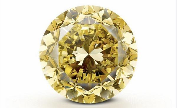 珠宝商Mouawad切割完成一颗重达54.21ct的圆形黄钻