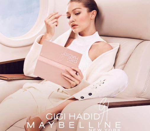 超模Gigi Hadid的彩妆 与美宝莲跨界合作