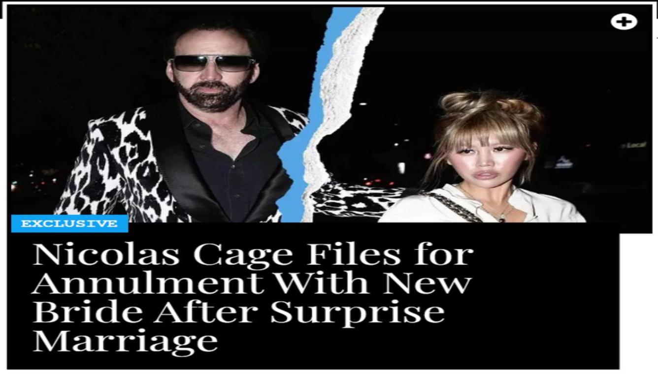 凯奇结婚4天后撤销婚宴 史上离婚最快的明星?