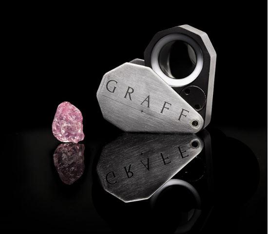 格拉夫购得珍罕非凡的13.33克拉粉红钻石原石
