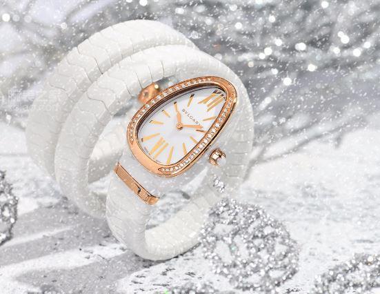 洁白无瑕 宝格丽Serpenti Spiga系列白色陶瓷腕表