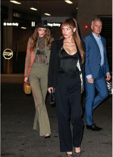 Bella Hadid和Gigi Hadid参加马克·雅可布婚宴街拍