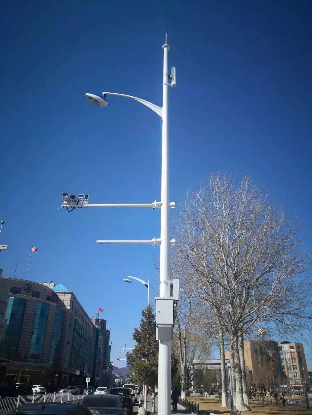 世园周边安装5G智慧灯杆 除了照明还有这么多功能