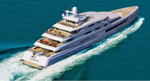 88.5米M/Y ILLUSION PLUS超级游艇 奢华却不失舒适感