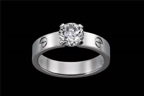 卡地亚一克拉钻石戒指价格