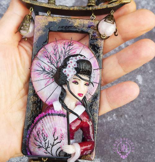 樱花艺伎丹顶鹤 日本风主题珠宝见过吗