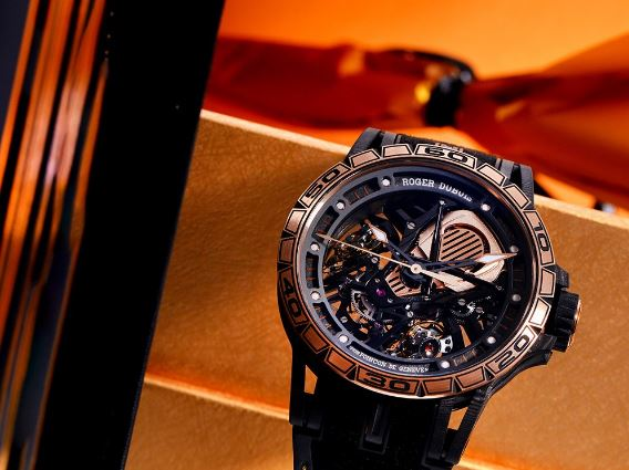卓越之作 罗杰杜彼Excalibur Aventador S玫瑰金腕表
