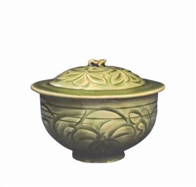青瓷刻花盖缸鉴赏