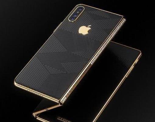 俄罗斯珠宝商推出镶嵌90颗钻石的可折叠iPhone手机