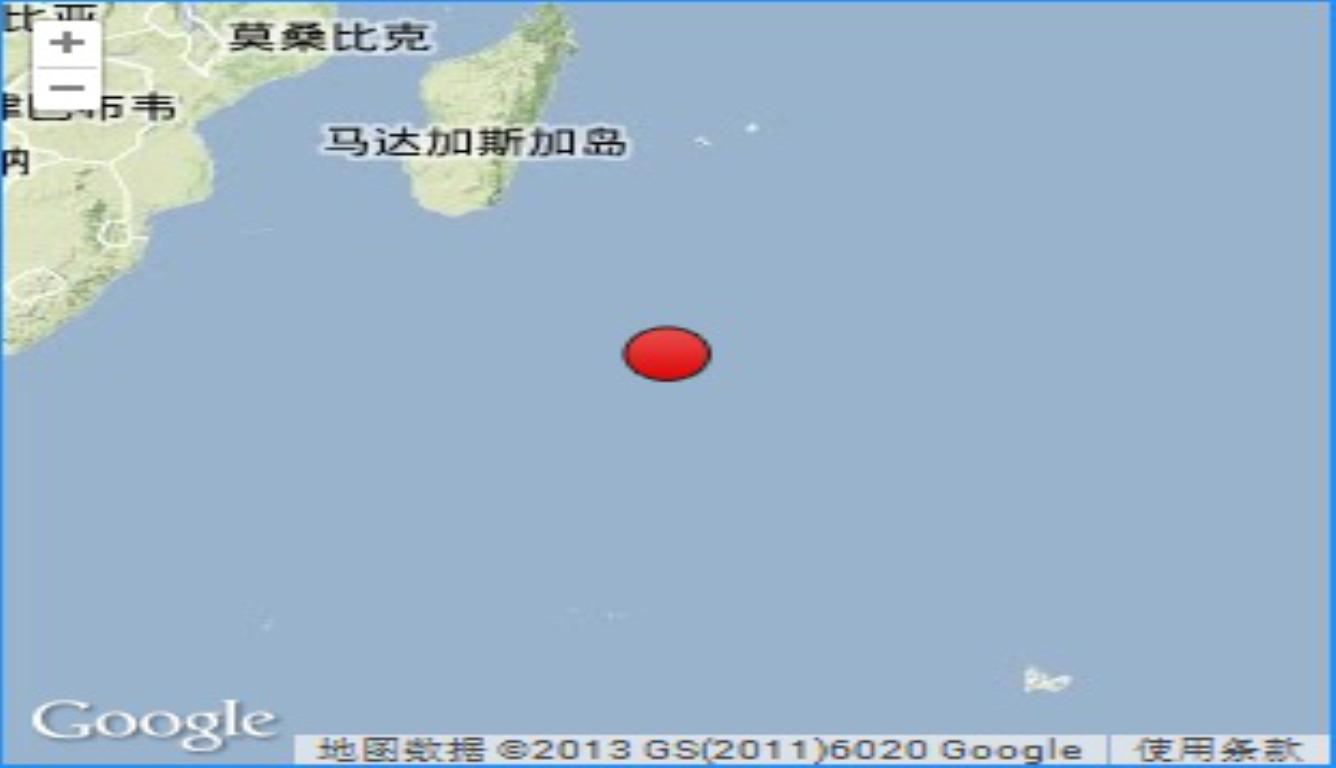 印度洋发生6.2级地震 震源深度10千米