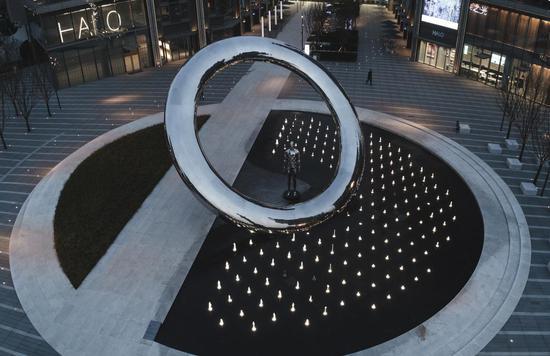 杭州良渚首个大型国内艺术家原创公共艺术作品落成