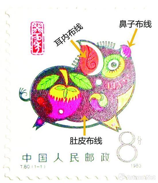 第一轮T80癸亥年邮票真假鉴定方法