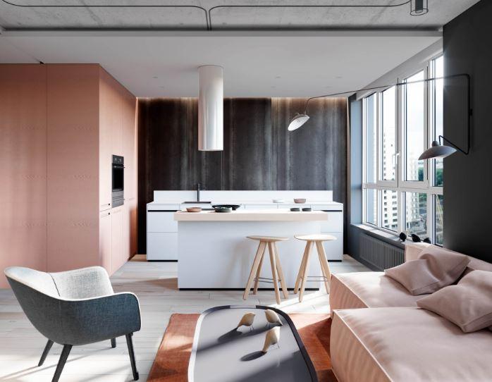 住宅设计色调篇:粉色和灰色的和谐运用