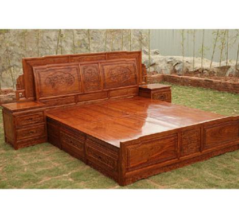 """""""冈州红木床 富贵弯背大床""""红木家具的价格"""
