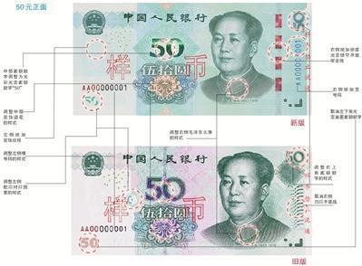 第五套人民币跟旧版相比 有何特点?