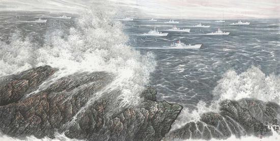 当代巨幅海洋画《大洋新乐章》引起行业强烈反响