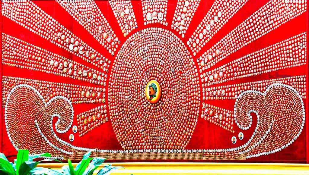这里珍藏着20万枚毛主席像章