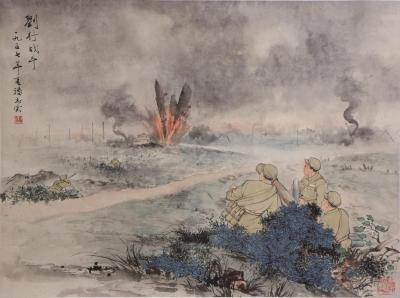 《解放上海》国画手卷首次进入公众视野