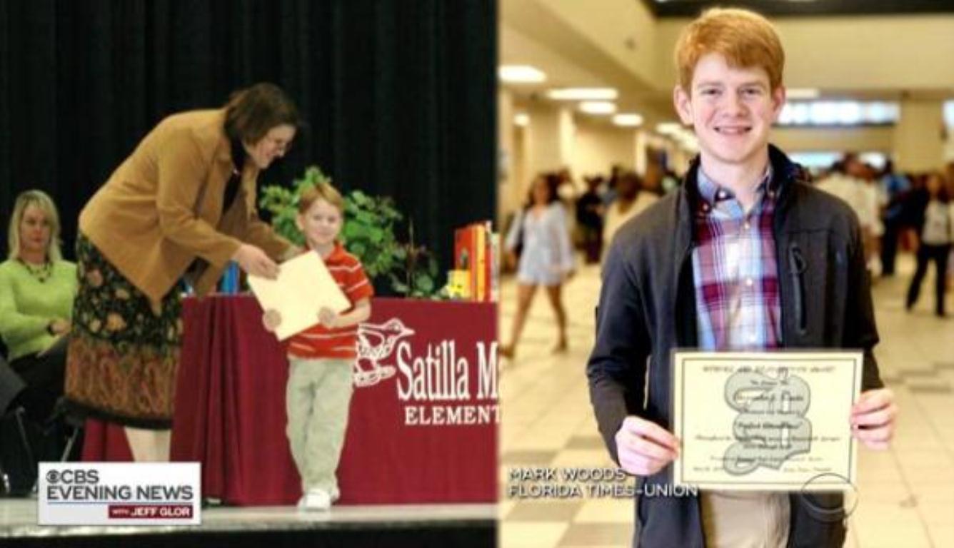 男孩13年来零旷课 只因4岁时的一个承诺