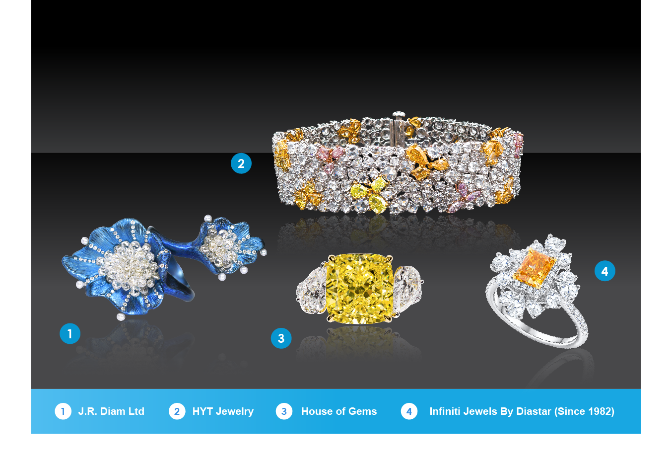 不同品级的优质钻石系列将会在六月香港珠宝首饰展览会上呈现