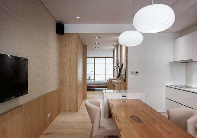 日式木纹小居 自然纯净宽敞明亮的简洁设计