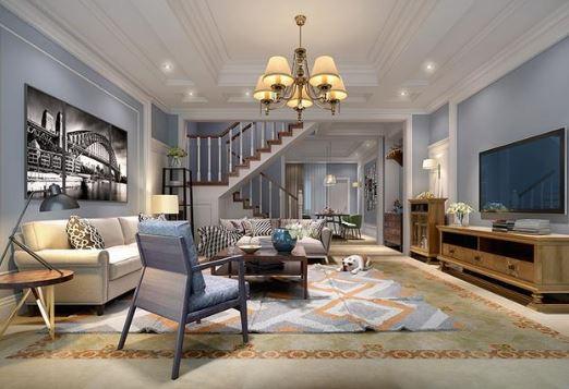 300㎡别墅装修设计案例赏析 现代美式风格20年不过时
