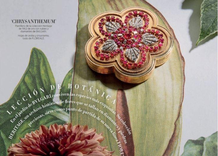 Harper's Bazaar Spain April 2019 珠宝大片 探索花园秘密