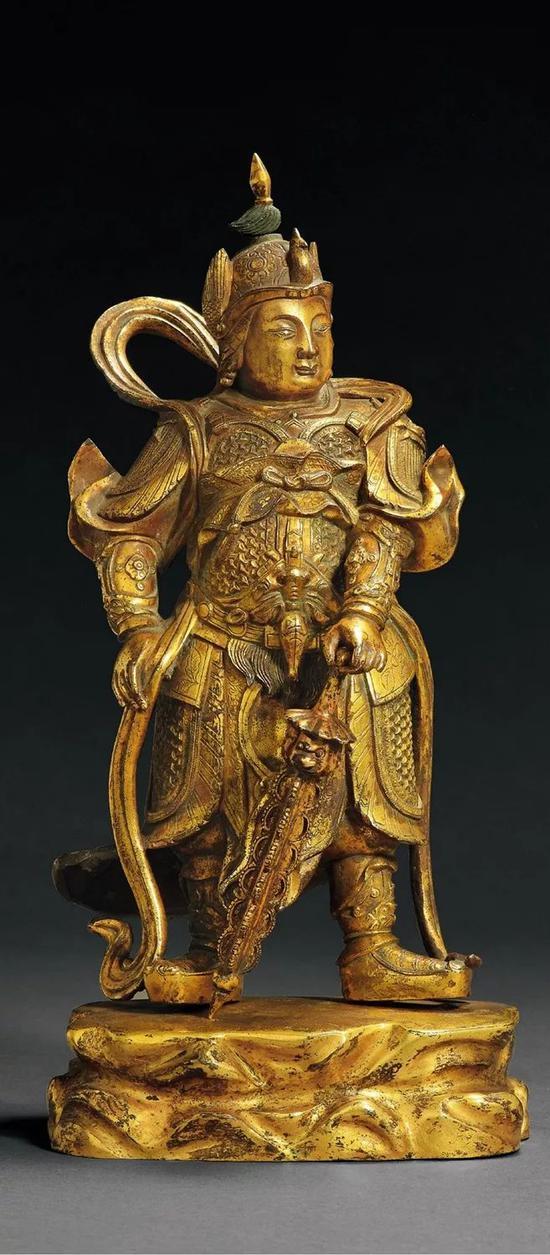 明永乐铜鎏金摧破金刚 尽显华丽与庄严(图2)