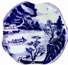 """康熙瓷画上描绘的""""浔阳江头夜送客"""""""