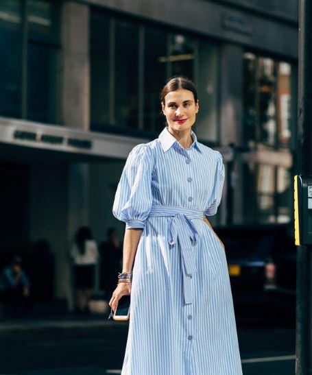 造型日历:条纹衬衫裙清新又舒适 夏日必备