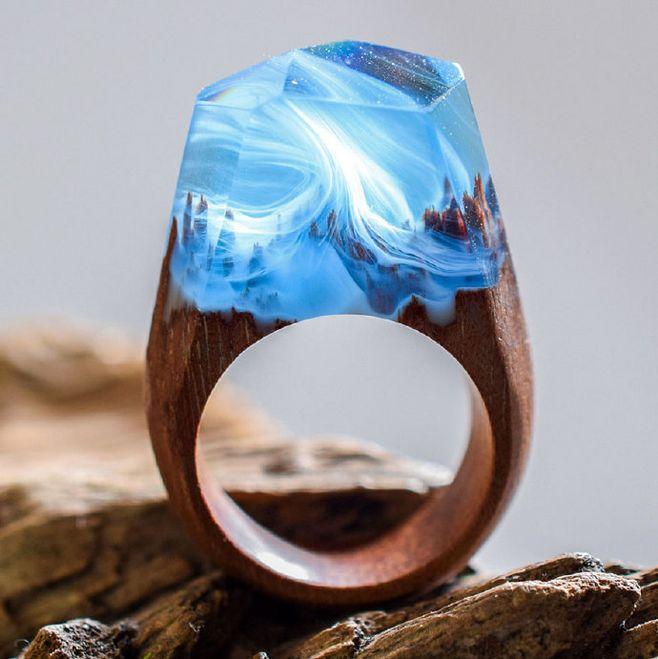 拿大的首饰品牌SECRET WOOD 把大自然的缩影融入到珠宝中