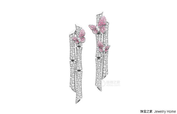 Qeenlin的Bamboo高级珠宝系列 让竹节、蝴蝶与钻石齐舞