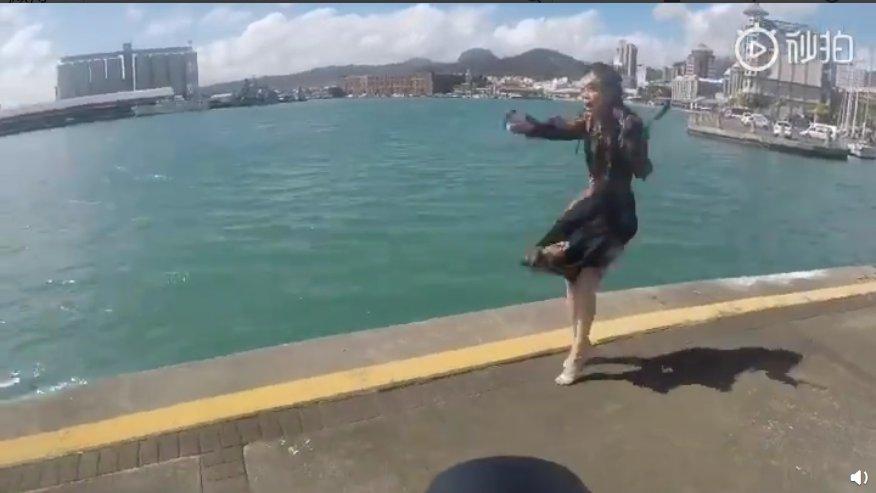 摄影师拍莫文蔚落水 因为女神太美