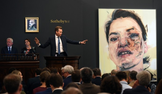 """伦敦苏富比""""当代艺术晚拍""""举槌 成交价总额达6960万英镑"""