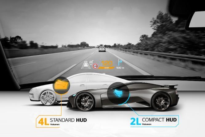 大陆集团首款跑车HUD 更安全更紧凑
