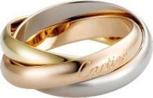 卡地亚新品上市 超经典款TRINITY戒指