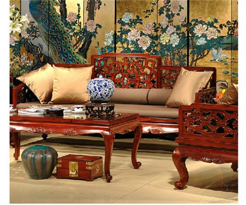 """""""允典红木沙发YDLU06SF""""一套红木家具多少钱?"""