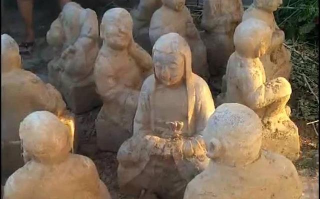 """时隔63年一批""""十八罗汉""""石像重见天日"""