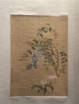 清代女画家恽冰《紫藤虞美人图》鉴赏